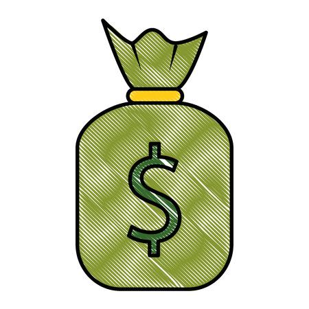 money bag isolated icon vector illustration design 写真素材 - 95058734