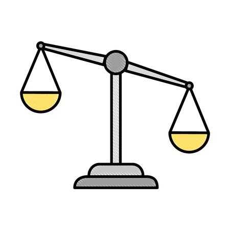 Justitie schaal Stock Illustratie