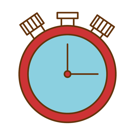 chronometer time clock isolated icon vector illustration design