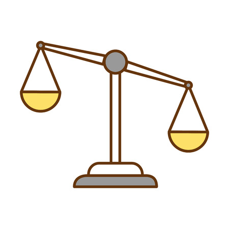 justice scale isolated icon vector illustration design Imagens - 95060573