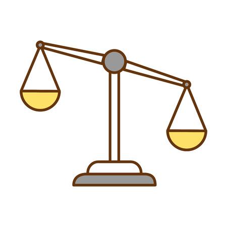 Ontwerp van de het pictogram vectorillustratie van het rechtvaardigheidsschaal het geïsoleerde