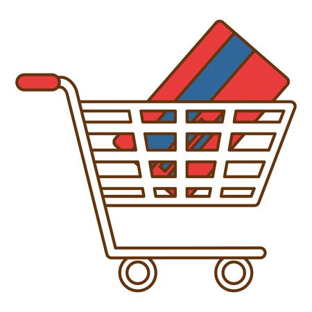 Einkaufswagen mit Kreditkarte Vektor-Illustration-design Standard-Bild - 95301403