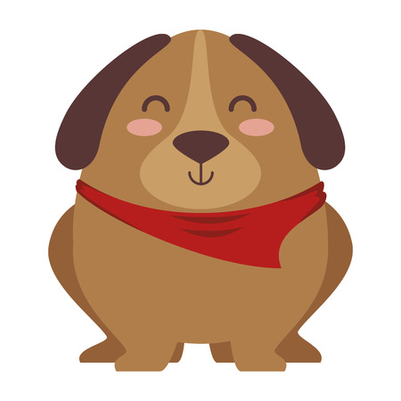 Cute dog with scarf vector illustration design Иллюстрация
