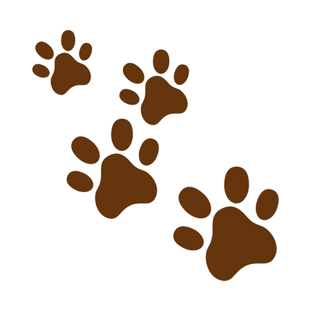Hunde Fußspuren isoliert Symbol Vektor-Illustration , Design , Standard-Bild - 95108552