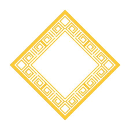 diamond geometric frame icon vector illustration design