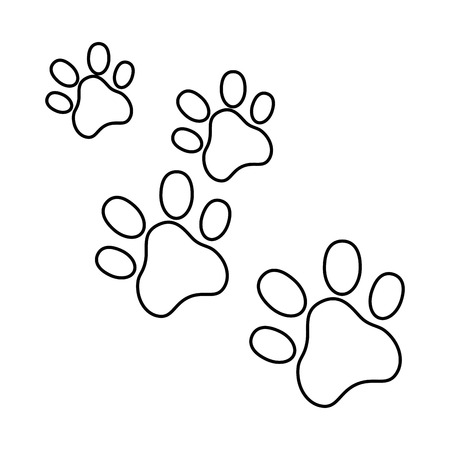 Hunde Fußspuren isoliert Symbol Vektor-Illustration , Design , Standard-Bild - 95301423