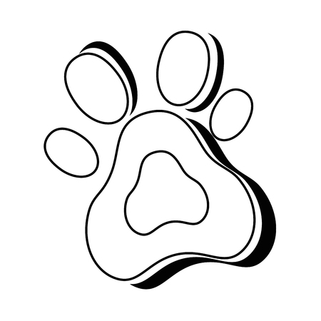 Hund Fußabdruck isoliert Symbol Vektor-Illustration , Design , Standard-Bild - 95301424