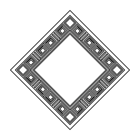 diamond geometric frame icon vector illustration design
