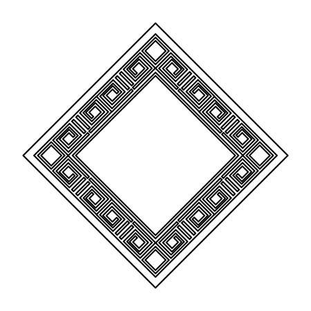 diamond geometric frame icon vector illustration design 스톡 콘텐츠 - 95062404