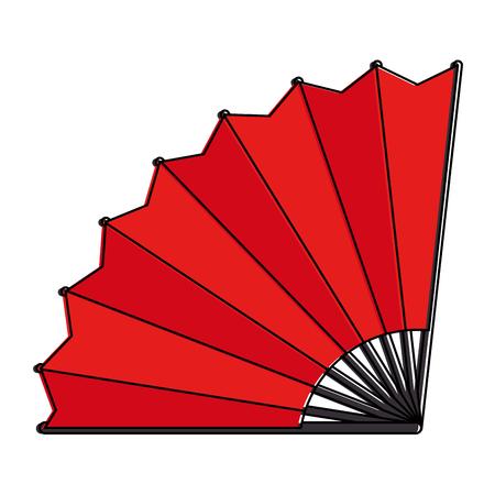 chinese fan decorative icon vector illustration design