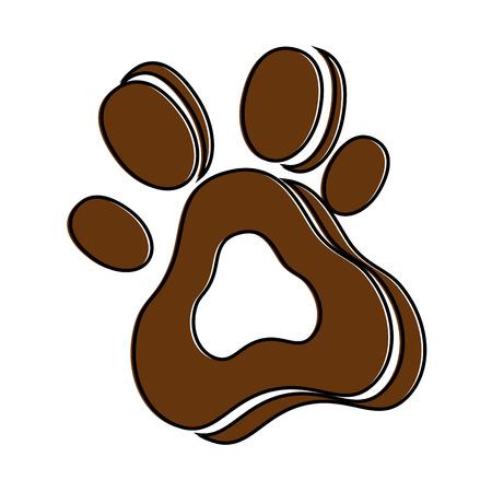 Hund Fußabdruck isoliert Symbol Vektor-Illustration , Design , Standard-Bild - 95062411