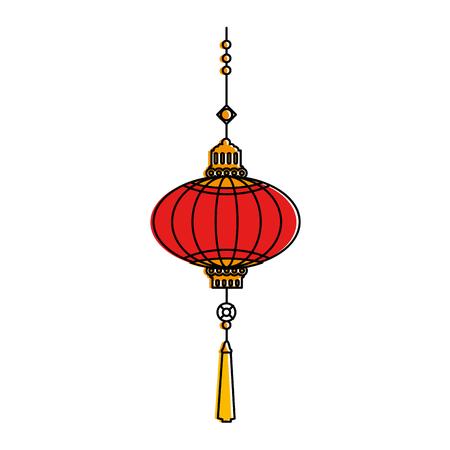 chinese lamp hanging icon vector illustration design Illustration