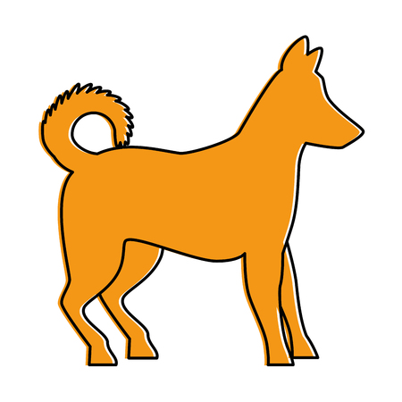 dog silhouette isolated icon vector illustration design Illustration