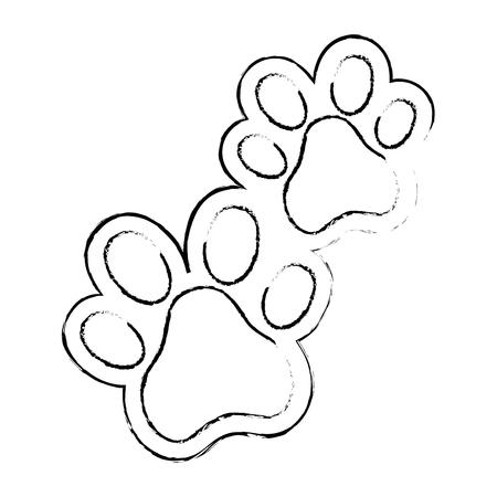 Hunde Fußspuren isoliert Symbol Vektor-Illustration , Design , Standard-Bild - 95108631