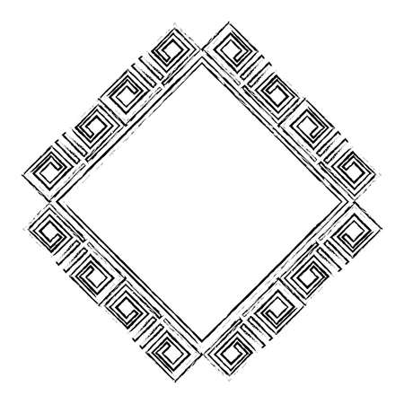 diamond geometric frame icon vector illustration design 스톡 콘텐츠 - 95108633