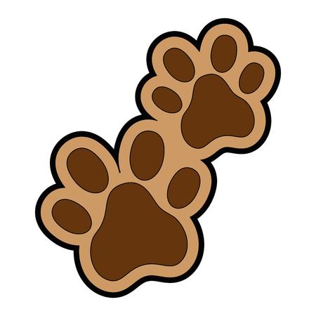 Hunde Fußspuren isoliert Symbol Vektor-Illustration , Design , Standard-Bild - 95062748