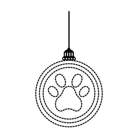 Ornament with paw print dotted illustration design