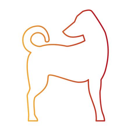 dog silhouette isolated icon vector illustration design Illustration