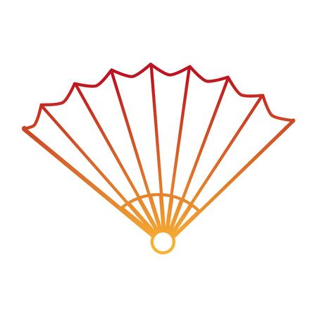 Chinese fan decorative icon vector illustration design. Illusztráció
