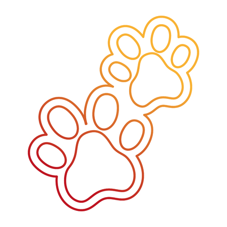 Dogs footprints isolated icon vector illustration design. 일러스트