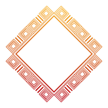 Diamond geometric frame icon vector illustration design.