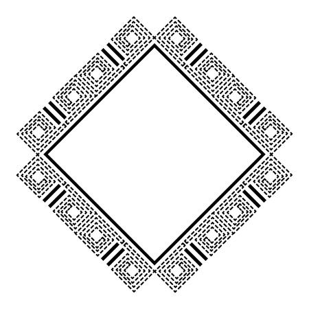 Diamond geometric frame icon vector illustration design. 스톡 콘텐츠 - 95177610