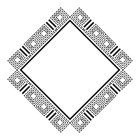 Diamond geometric frame icon vector illustration design.