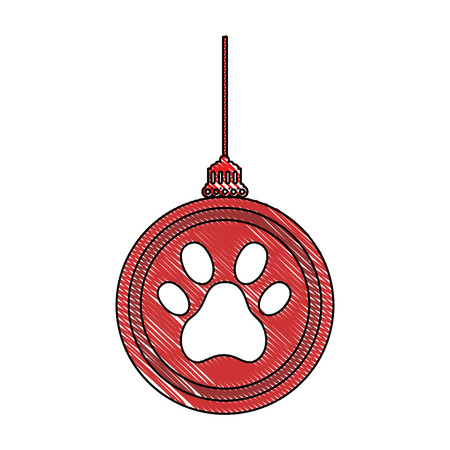 Chinese ornament hung with footprint vector illustration design 일러스트