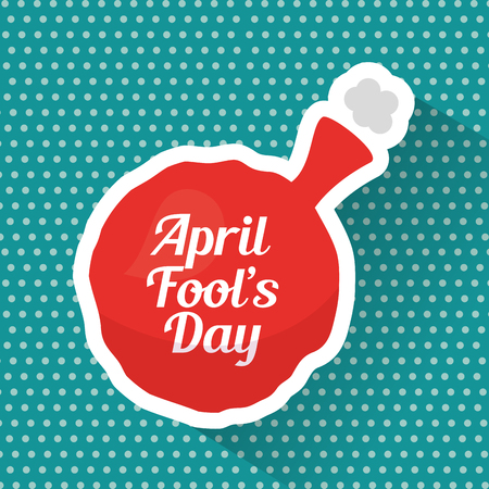 April fools day whoopee cushion prank card vector illustration Stock Illustratie