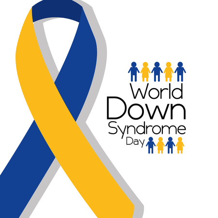 world down syndrome day awareness ribbon people