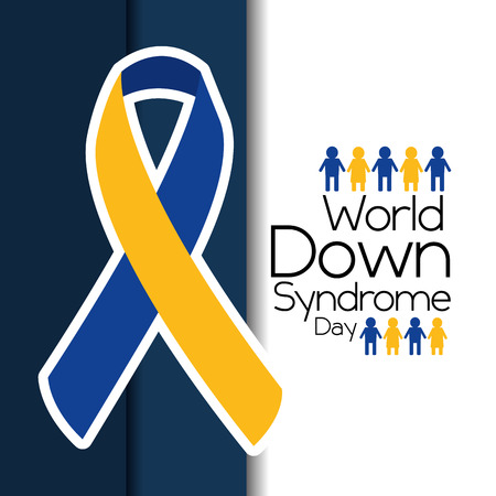 world down syndrome day flying campaign vector illustration
