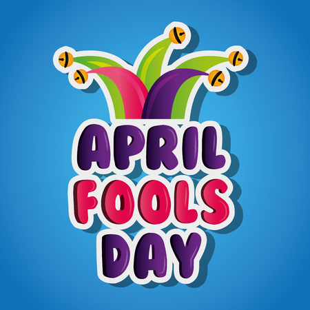 april fools day celebration party humor vector illustration