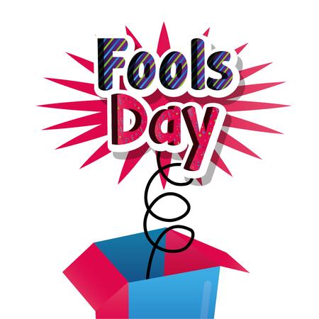 humor celebration enjoy fools day card vector illustration