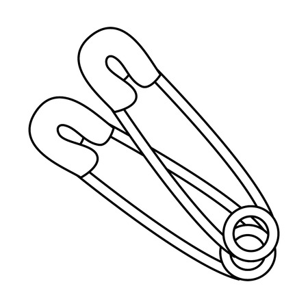 A clothes pin wire icon vector illustration design 向量圖像