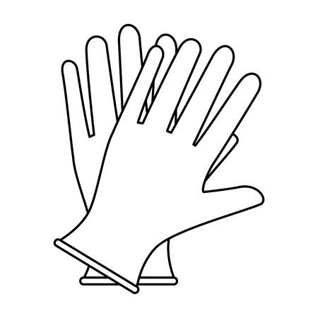 Rękawiczki chirurgiczne na białym tle ikona wektor ilustracja projekt. Ilustracje wektorowe
