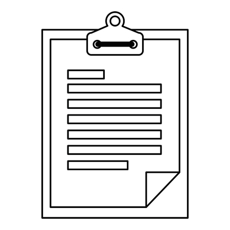 Checklist document isolated icon vector illustration design.