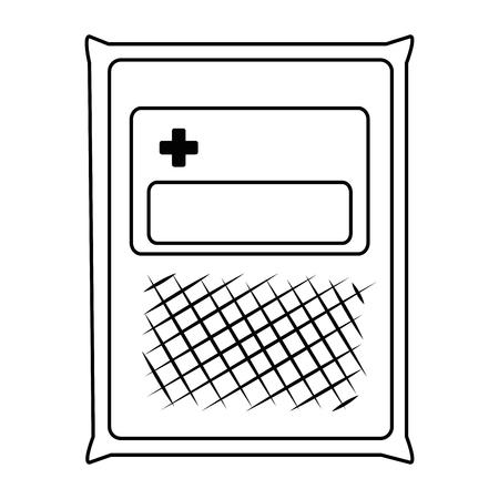 医療ガーゼバッグアイコンベクトルイラストデザイン。  イラスト・ベクター素材