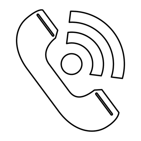 Telephone service isolated icon vector illustration design.