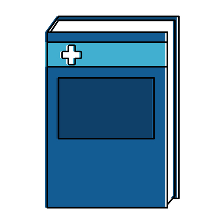 Medicine text book icon vector illustration design.