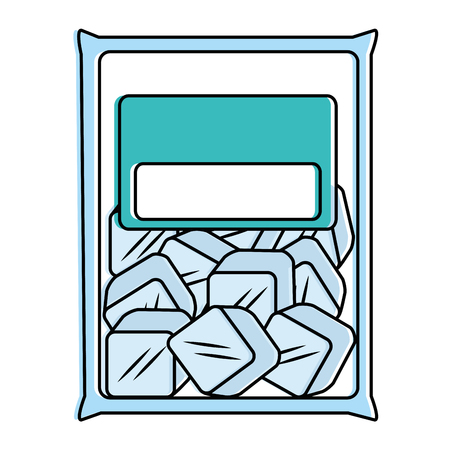 Bag with ice cubes isolated icon vector illustration design.