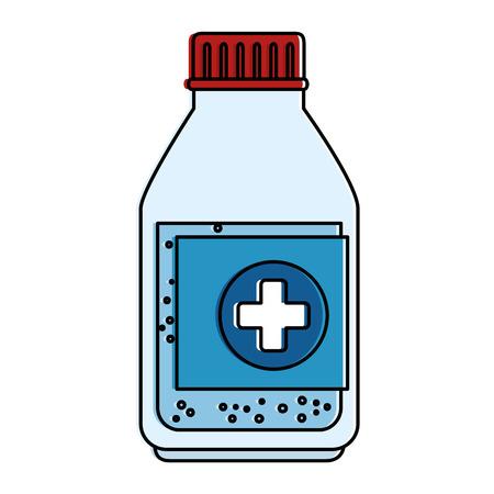 Medicine bottle isolated icon vector illustration design.