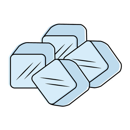 Ice cubes isolated icon vector illustration design.