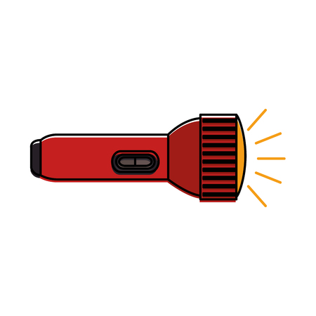 A flash light isolated icon vector illustration design