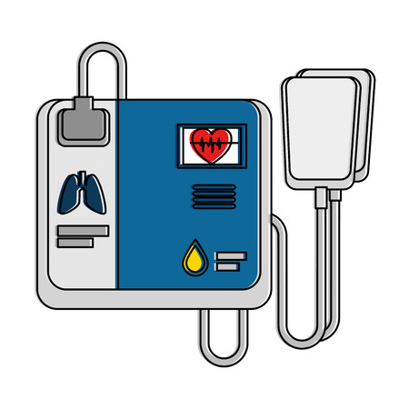 A cardiology machine isolated icon vector illustration design