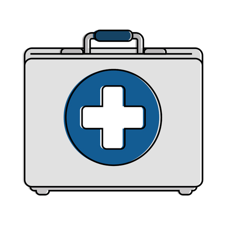 A medical kit isolated icon vector illustration design
