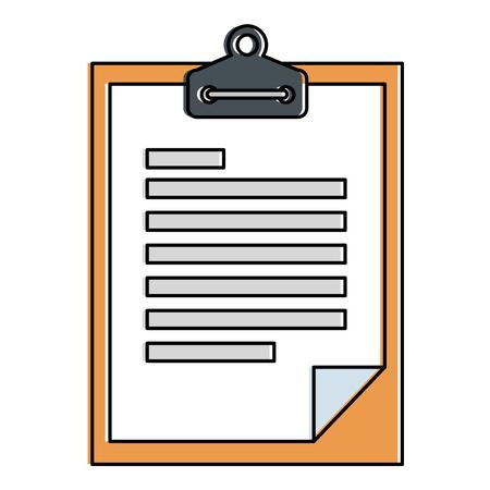 checklist document isolated icon vector illustration design