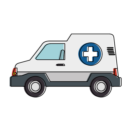 Ambulance vehicle isolated icon vector illustration design. Illustration