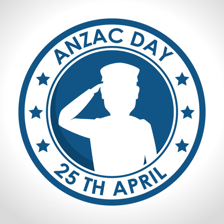 anzac day poster with military soldier vector illustration graphic design Illustration
