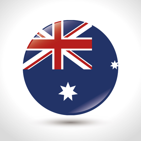 The flag of Australia with Union Jack and stars vector illustration graphic design
