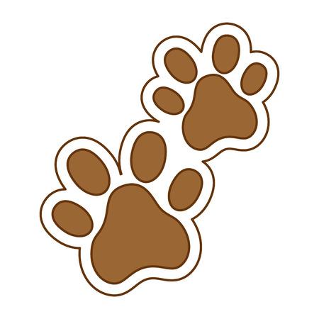 Dogs footprints isolated icon vector illustration design. Stock Illustratie